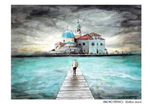 OMAŽ MIĆI POPOVIĆU - 30x40cm. akvarel- THE SECOND INTERNATIONAL WATERCOLOR BIENNIAL OF GALLERY A