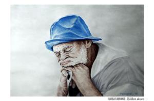 Barba Fabriano - 35x50cm. akvarel